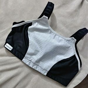 Glamorise black and gray sports bra